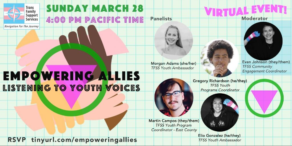 Transgender youth events online - San Diego